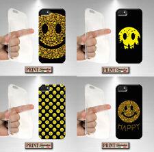 Cover for , IPHONE, Smile, Yellow, Emoji, Silicone, Soft, Happy, Dark, Emoticon