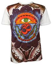 Sure T-Shirt Terza all-sehendes occhio OM caratteri simbolo Goa Yoga M L XL