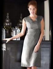 Bravissimo Linen Notch Neck Dress in navy Grey Mix (20)