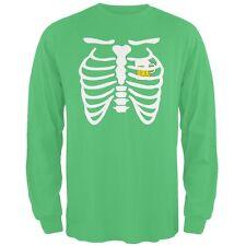 St. Patrick's Day - Beer Mug Heart Skeleton Irish Adult Long Sleeve T-Shirt