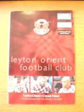 21/08/2001 Leyton Orient V Copa Cristal Palace [Liga de fútbol]. no obvio Fau