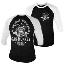 Officially Licensed Gas Monkey Garage Torch & Hammer 3/4 Sleeve Baseball T-Shirt
