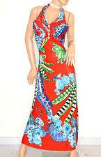 ABITO LUNGO  ROSSO BLU VERDE vestito donna strass elegante cerimonia E170