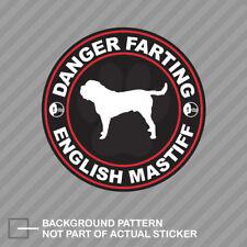Danger Farting English Mastiff Sticker Decal Vinyl dog canine pet