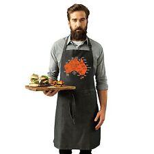 Australia Geography Explained Funny AUS Aussie Slang Kitchen Cooking APRON