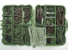 GRANDE Carpa Rig Kit di accessori Tackle Box Teflon Ganci scegli taglia capelli Rigs