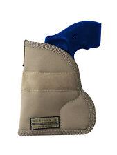 """New Barsony Desert Sand Concealment Pocket Holster for Snub Nose 2"""" Revolvers"""
