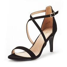 DREAM PAIRS Women's Dolce Fashion Stilettos Open Toe Wedding Pump Heel Sandals