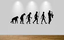 Evolución de Jazz Pared Adhesivo Calcomanía Habitación Pared Arte saxofón evolución
