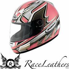 CHEAP SALE LADIES WOMENS KBC TK8 SLICK PINK FULLFACE MOTORBIKE MOTORCYCLE HELMET