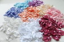 Satin Ribbon & Pearl Bows - Wedding - Pink, Blue, Lilac, Ivory, Peach, & More