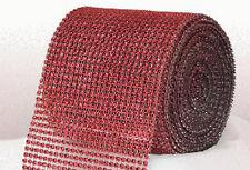 Red Diamante Rhinestone effect band ribbon Cake Trim Wedding, Sewing