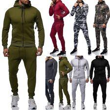 Herren Jogginganzug Camouflage Sportanzug Jogginghose Pullover Hose AT Stepp1109