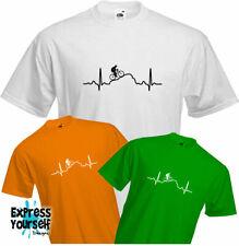 HEARTBEAT MOUNTAIN BIKE - T Shirt, Cycling, Adventure, Fun, Cool, Quality, NEW