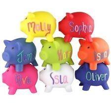 PERSONALISED PIGGY BANK - Money Box For Savings Fun Gift - Any Name - Hand drawn