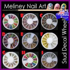 Nail Art Stud Metallic Bead Decal Wheel Decoration Metal Slice Silver Gold Neon