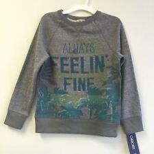 NEW, Cherokee Boy's Always Feelin' Fine Graphic Pullover Grey Sweatshirt