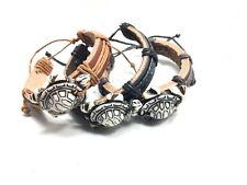 Sea Turtle Charm Leather Adjustable Bracelet New Tribal Surfer Ethnic Fashion