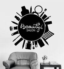 Vinyl Wall Decal Signboard Beauty Salon Makeup Cosmetics Stickers (1290ig)
