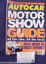 AUTOCAR Magazine 20th october 1999 Motor Show Guide
