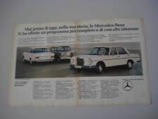advertising Pubblicità 1965 MERCEDES 200 D - 250 SE