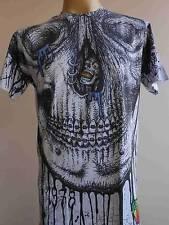 Minute Mirth Dental Braces Rotting Skull Tattoo Men T-shirt White M  L