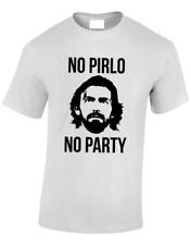 No Pirlo No party Faccia Da Uomo T-Shirt Classica Moda Italia Football Top S - 5XL