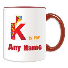 Regalo Personalizzato Lettera K Per Tazza Money Box COPPA Carino simbolo fonetico chilo Kite