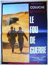 LE FOU DE GUERRE Affiche Cinéma / Movie Poster COLUCHE 53x40
