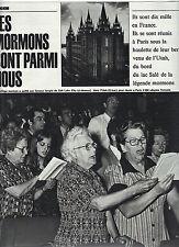 Coupure de presse Clipping  1976  LES MORMONS    sont parmi nous (3 pages)