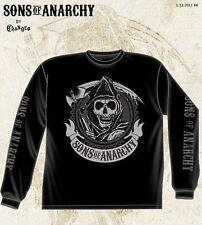 Sons Of Anarchy Soa Redwood Reaper Biker Punk L/S Long Sleeve Shirt Size S-3Xl