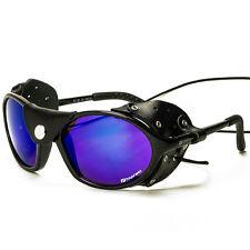 Sportbrille Sonnenbrille Bergsteiger mit Windschutz Gletscherbrille Hochgebirge