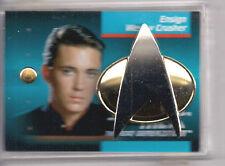 Wesley Crusher Star Trek Next Gen Communicator Pin & Rank Pip Set