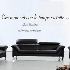 """Sticker Texte """"Ces moments, où le temps s'est arrêté... + prénoms et dates"""""""