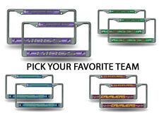 NBA Bling (PICK YOUR TEAM) Chrome License Plate Frame SET of 2 ~