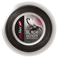 POLYFIBRE BLACK VENOM Tennis Stringa 200m REEL