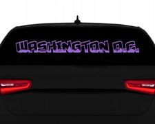 Washington, D.C. Aufkleber Schriftzug Stadtaufkleber  11 Farben 2 Größen