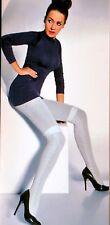 Blickdichte Strumpfhose mit Muster warm aus Baumwolle 200 DEN S-L 2 Farben