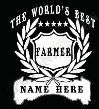 Granjero Camiseta Personalizado Añadir Nombre A ELEGIR REGALO IDEAL DEL MUNDO