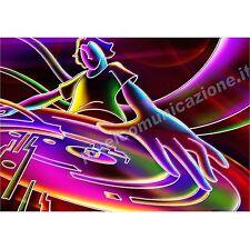 QUADRI MODERNI POSTER CASA DISCO DJ  DISCOTECA COLOR DANCE MUSICA POP FANTASY