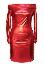Sexi abito vestito donna da discoteca cubista weet look effetto ROSSO 806 corto