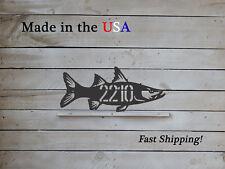 Fish Address Plaque, Angler Decor-Fishers Art - HN1184