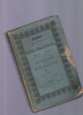 cours de l'histoire de la philosophie par m.v.cousin - paris - 1828