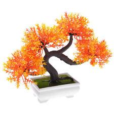 Plastic Topiary Mini Artificial Tree Home Decor Plant Pot Potted Bonsai Pin Tree