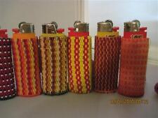 Hand Beaded Original Design Lighter Cases..Reds & Oranges & more Collection