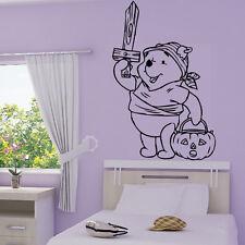 Stickers Winnie Halloween + Prénom Personnalisable - Choix Taille-couleur