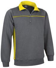 Sweat de travail homme manches longues Thunder gris jaune  en S M L XL XXL XXXL