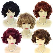 Wiwigs Corto Y Rizado Rubio Negro Marrón Rojo Estilo De Verano señoras pelucas superior de la piel