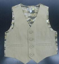 Boys $39.50 Camouflage & Tan Vest Size 4