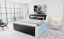 Designerbett Bettgestell Modern AREZZO Bett Doppelbett Lederbett LED Lagerware